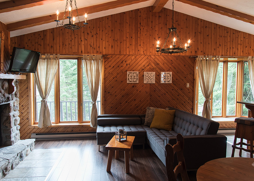 two bedrooms chalet for rent for 4 laurentians chalets